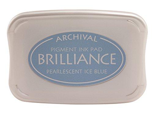 Tsukineko Brilliance Full-Size Pad, Pearlescent Ice Blue
