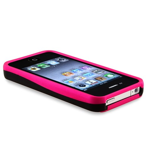 Coated Rubber Appleiphoneverizonpinkblack Gadget