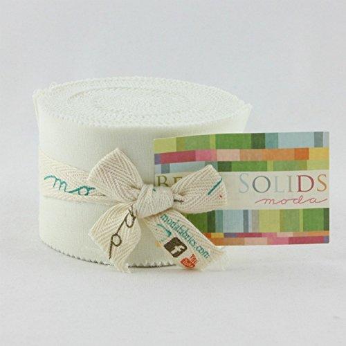 Bella Solids Porcelain Jr Jelly Roll (9900JJR 182) by Moda House Designer for Moda