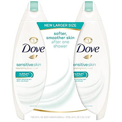 Dove Body Wash, Sensitive Skin 22 Ounce, 2 Count