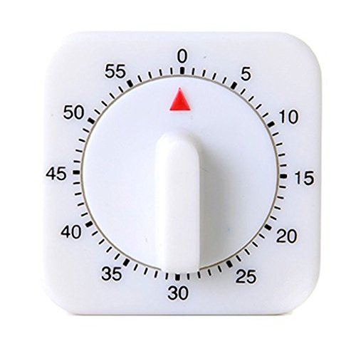 QHGstore Novità Piazza della cucina 60 Minute Timer Meccanico Promemoria conteggio