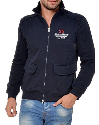 M.Conte Uomo Polo Shirt Felpa manica lunga Ouray Dark Blue M