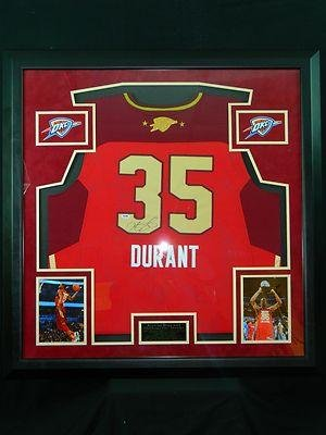 c68178569 Autographed Kevin Durant Jersey – Okc All Star West Framed W Suede Coa –  PSA DNA Certified – Autographed NBA Jerseys. Brand   Sports Memorabilia