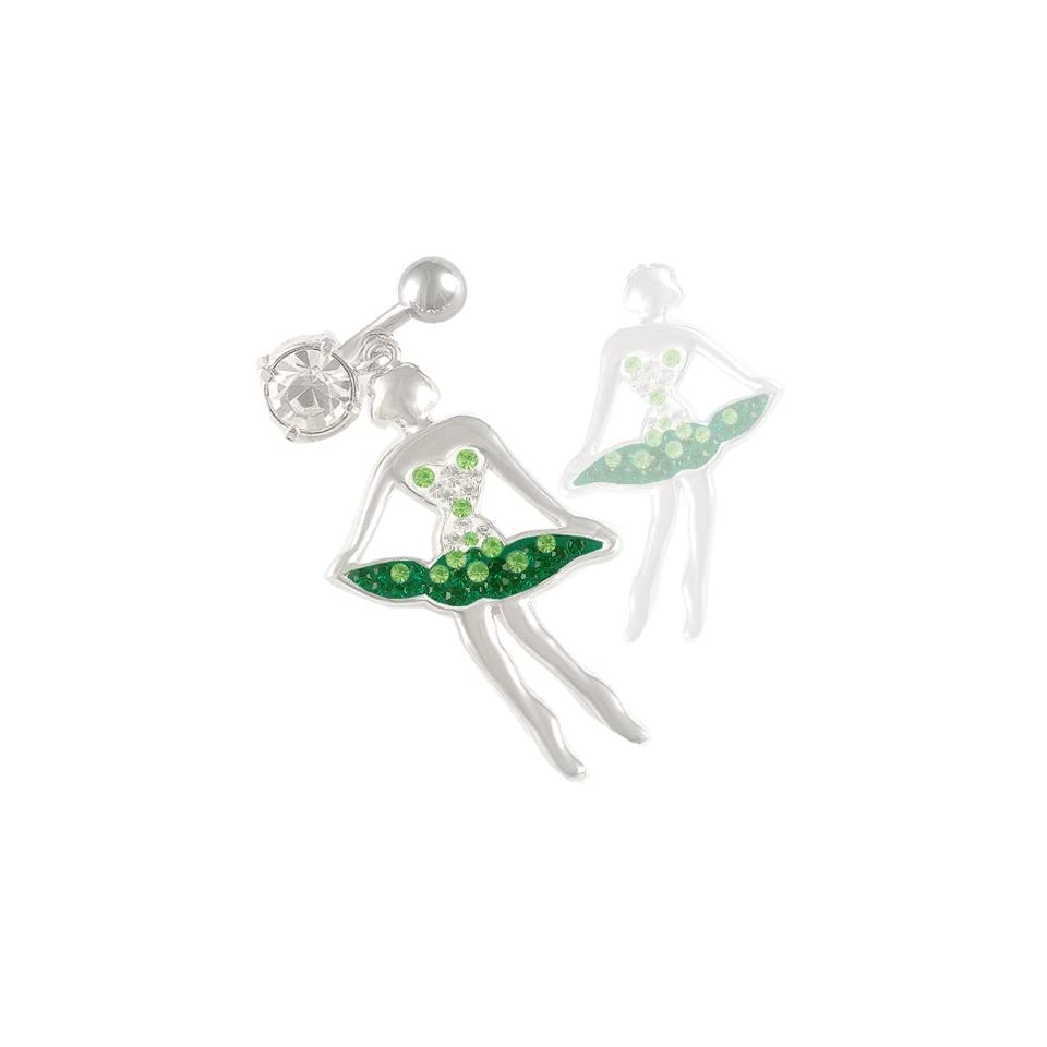 14 Gauge 1.6mm 3/8 10mm cute dangle belly ring navel bar surgical steel unique button ARMU Body Piercing