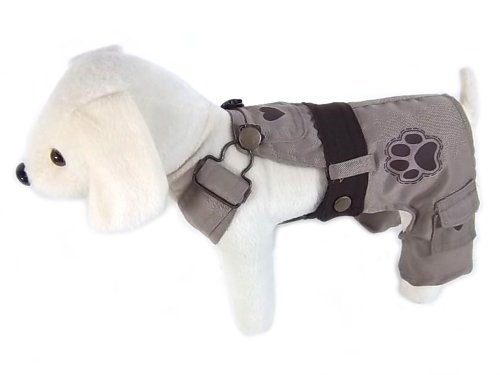UP Collection Classic Dog Dress with Adjustable Snap Buttons, Beige, Small