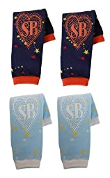 Snazzy Baby My Baby\'s Non Slip Leg Warmers, Set of 2, Starry Nights & Baby Blues