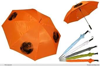 Parapluie Orange Golf chien Teckel-Noir-et-Feu