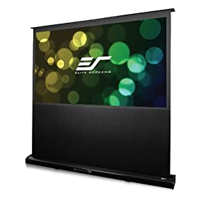 "Elite Screens 92 Inch 16:9 Kestrel Floor-Rising Electric Projector Screen (45.1""Hx80.2""W)"