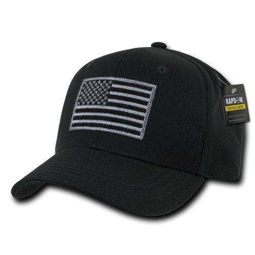 Rapdom Tactical USA Embroidered Operator Cap, Black