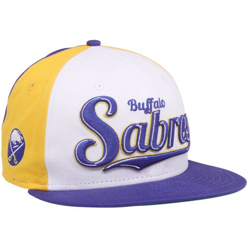 New Era Buffalo Sabres Royal Blue-Gold-White 9FIFTY Script Wheel Snapback Adjustable Hat
