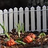 Darice 9148-66 Picket Fence, 18 by 2-Inch, White