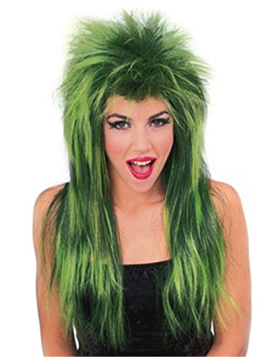 [Rubie's Green Neon Shag Wig] (Neon Green Wigs)