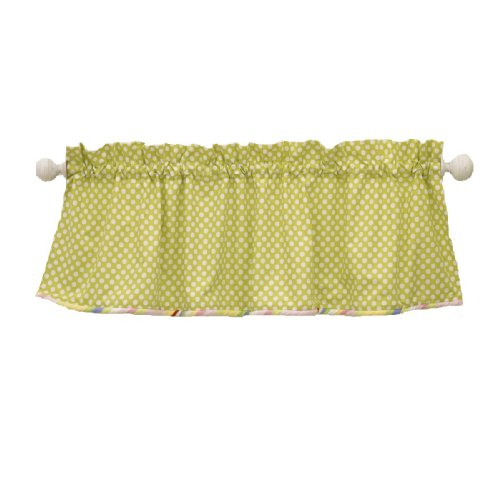 Cotton Tale Designs Spring Fling Valance, Green/White