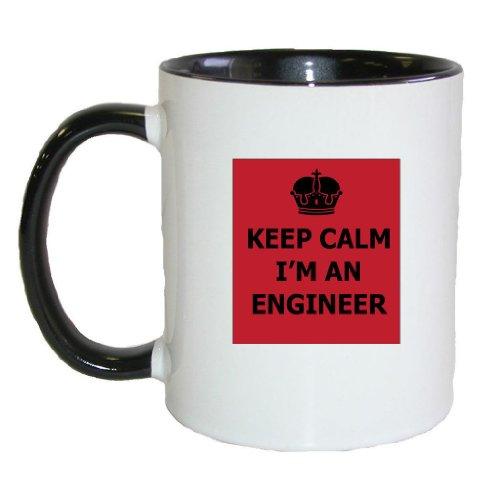 Mashed Mugs - Keep Calm I'M An Engineer - Coffee Cup/Tea Mug (White/Black)