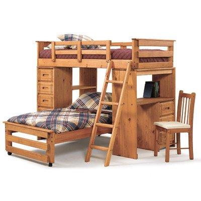 Loft Bed Over Desk 5717 front