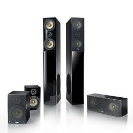 Teufel Theater 4 Hybrid 5.2-Set schwarz (5.2-Hybrid-System, 2 Standboxen mit 2 integrierten Subwoofern, 1 Center, 2 Rear-Boxen) ab 719,99 Euro inkl. Versand