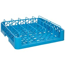 "Carlisle RFP14 OptiClean Food Pan/Insulated meal Delivery Tray Rack, Polypropylene, 20.88"" Length, 20.88"" Width, 4.00"" Height, Blue (Case of 3)"
