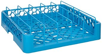 "Carlisle RFP14 OptiClean Polypropylene Food Pan/Insulated Meal Delivery Tray Rack, Open End, 19.75 x 19.75 x 4"", Carlisle Blue (Case of 3)"