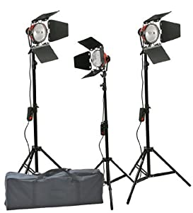 Fancierstudio 2400 Watt Barndoor Video Lighting Kit Light Kit Halogen Lighting Very Bright By Fancierustudio FL100R3