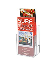 Marketing Holders 2-Tier Clear Acrylic Brochure Holder Literature Display for 4x9\