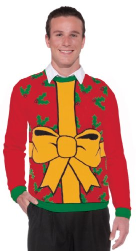 Forum-Novelties-Adult-All-Wrapped-Up-Ugly-Christmas-Sweater