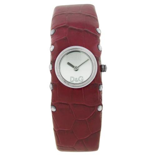 Dolce & Gabbana GE SS SLV DIAL RED STRAP DW0355 - Reloj de mujer de cuarzo, correa de piel color marrón