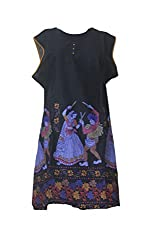 Tulip Collections Women's Cotton Kurti, Black_XL