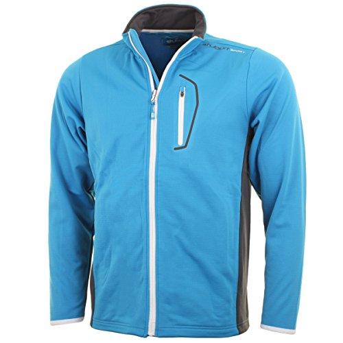 Stuburt Men'S Sport Lite Full Zip Bonded Fleece L Electric Blue/Titanium