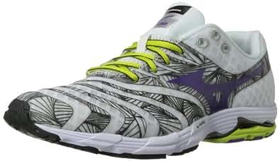 Mizuno Women's Wave Sayonara Running Shoe,White/Slime,7.5 B US