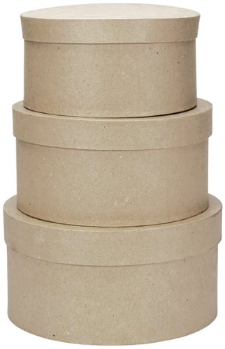"Paper Mache Round Box Set - 8"", 9"" And 10"" *** Product Description: Paper Mache Round Box Set - 8"", 9"" And 10"". Fill These Boxes With Silk Or Dried Flowers, Use Them As Cookie Or Candy Containers For Gifting Or Create A Memory Box Like No Other. ***"