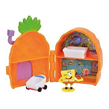 Bob l'Eponge - La Maison Ananas - Mini Décor + Mini Figurine Bob l'Eponge