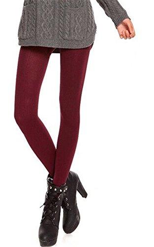 Group® Women'S Autumn Legging Pants (Ninth Pants, Wine Red)