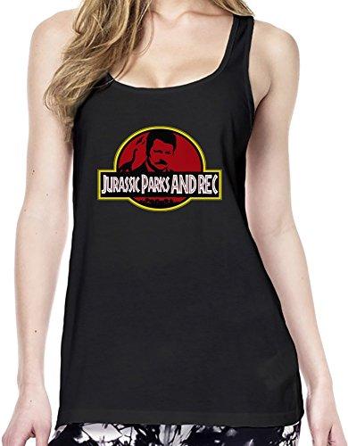 Jurassic Parks & Rec Womens Tunic Vest Medium