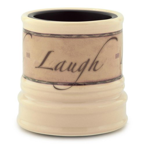 Candle Warmers Ceramic Candle Warmer Crock, Live, Love, Laugh