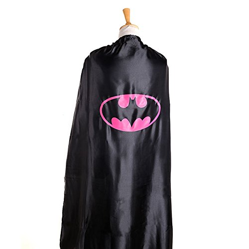 Starkma Adult Batman Batgirl Superhero Stain Cape Costume 02