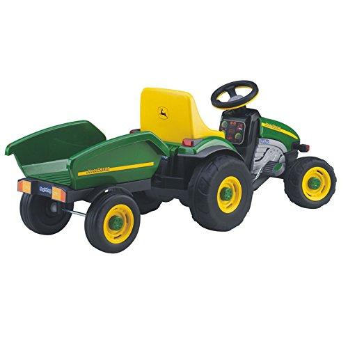 Igcd0522 Realistic Peg Perego John Deere Farm Tractor & Trailer W Heavy-Duty Tractor Wheels