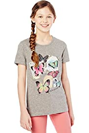 Cotton Rich Butterfly Print T-Shirt