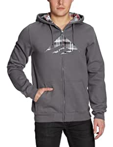 EMERICA Triangle Fill Mens Zip Fleece Jacket - S, Grey (Charcoal)
