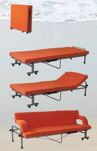 Divano letto pieghevole in tessuto arancione arancione fb 08 l90h41p190cm divani letto prezzi - Letto pieghevole amazon ...