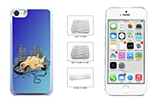 buy Slept Pug Listening Music Clear Sides Plastic Phone Case Back Cover For Apple Iphone 5C Comes With Security Tag And Myphone Designs(Tm) Cleaning Cloth