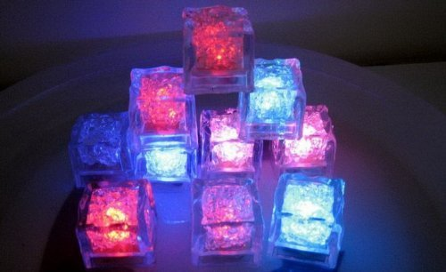 Zcargel Colour Changing Led Liquid Sensor Lights-- Ice Cubes Shape, So Amazing