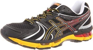 ASICS Men's Kayano 18 Running Shoe,Onyx/Black/Blazing Yellow,6.5 M US