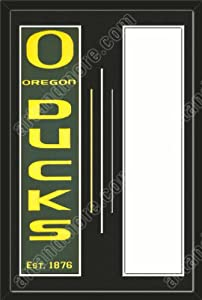Oregon Ducks & Your Choice of other Team Heritage Banner Framed-House... by Art and More, Davenport, IA