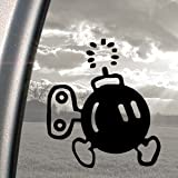 SUPER MARIO Black Decal BOMB-OMB NES NINTENDO Car Sticker
