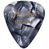 Fender Accessories 198-0351-843 Moto Style Guitar Picks, 12 Pack - Black