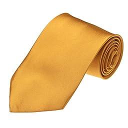 DAA3E01S Gold Solid Woven Microfiber Tie Italian Design Tie Factory For Presents By Dan Smith