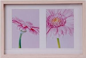 edler henzo holzbilderrahmen f r 2 bilder 13 x 18 cm bilderrahmen aus holz glas foto. Black Bedroom Furniture Sets. Home Design Ideas