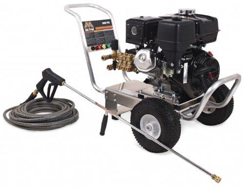 Mi-T-M Ca-3003-1Mah Ca Aluminum Series Cold Water Direct Drive, 270Cc Honda Ohv Gasoline Engine, 3000 Psi Pressure Washer