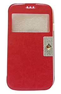Sharp Icon Front & Back Stone Flip Case for Samsung Galaxy S3 I9300