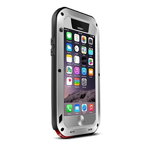 ELECDAY[TM] Metal Corning Gorilla Glass Shockproof/Dust proof/Weatherproof Military Heavy Protection Hard Cover Skin Case Pouch Shell Membranes For 4.7 Inch Iphone6 iphone 6 VI + BRAND LOGO Full-body